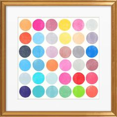 Color Play 9 by Garima Dhawan Framed Graphic Art