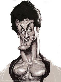 Sylvester Stallone por Ernesto Priego - Caricaturas de Famosos