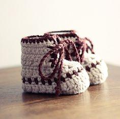Instant download - Crochet PATTERN (pdf file) - Baby Bottines