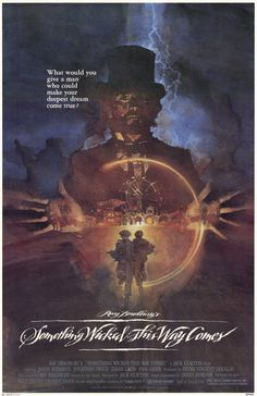 "Director Jack Clayton's surprisingly good film version--much better than its reputation-- of Ray Bradbury's novel ""Something Wicked This Way Comes""(1983).  Better  than its rep because of the acting, atmosphere,  and special effects.  Particularly well-acted by Jason Robards Jr. (young Will Holloway's aging librarian father) and Jonathan Pryce (Mr. Dark, the proprietor of the sinister dark carnival).  Bradbury wrote the screenplay.  R.I.P. Mr. Bradbury..."