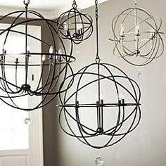 Decision made. I want an orb light fixture/chandelier over my dining room table.