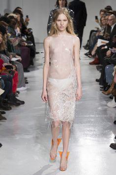 Calvin Klein Collection ready-to-wear autumn/winter - Vogue Australia Fashion 2017, Runway Fashion, Fashion Models, Julia Saner, Camille Hurel, Lineisy Montero, Sheer Clothing, Calvin Klein Collection, Vogue Australia
