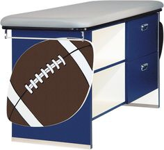 Sports Themed Exam Tables, football, soccer, basketball, golf, baseball... have them the Team Colors or School Colors