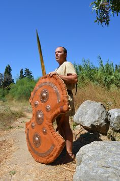 Mycaenean Anax (Land Lord), armed with Dipylon shield.
