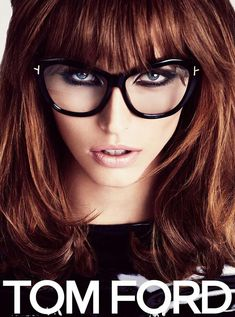Karlina Caune in Tom Ford eyewear campaign