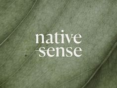 Native Sense Logo designed by Juste Navickaite. Connect with them on Dribbble; the global community for designers and creative professionals. Brand Identity Design, Branding Design, Typography Design, Lettering, Minimal Logo, Letter Logo, Logo Design Inspiration, Business Logo, Photos
