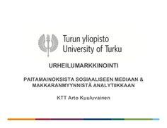 Luento: Urheilumarkkinointi, sosiaalinen media & joukkorahoitus