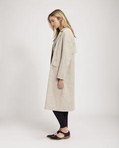 Women's Natural Cotton Linen Takara Coat | Toast