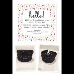 FIND A CURE!💕💕Handmade Headbands by Adora P🙋🏾 Each Handmade headbands was specially made by me! Adora P. Accessories Hair Accessories
