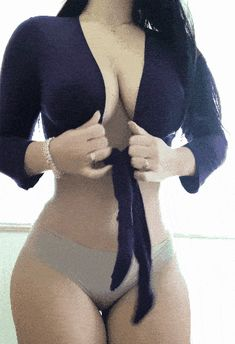 Showing off her beautiful boobs