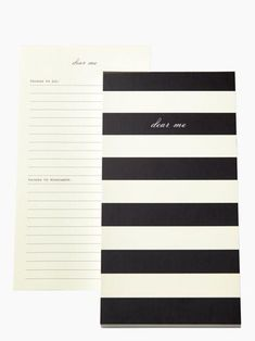 to do lists just got prettier — the dear me notepad by kate spade new york (june 2014)