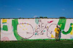 Mural do artista Mart #Fotografia #Mural #Bicicleta #ciclismo