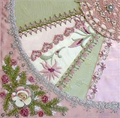 I ❤ crazy quilting, beading & ribbon embroidery . . . Gorgeous April 2012 CQJP Block ~By Susie W