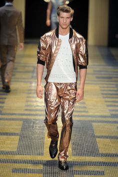 Versace Men's RTW Spring 2013 - Runway, like the jacket. eb