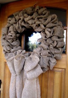 Burlap Wreath  i want it!!! love that its blank so i can decorate for different occasions =)