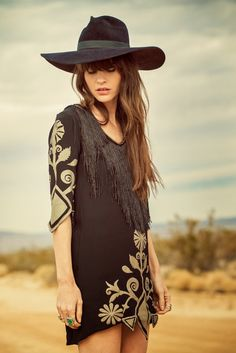Fringe, Embroidery, and an Amazing Hat