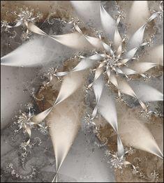 White & silver pinwheel fractal