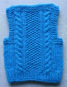 Stitches of Violet: Cozy In Cables Toddler Vest Pattern