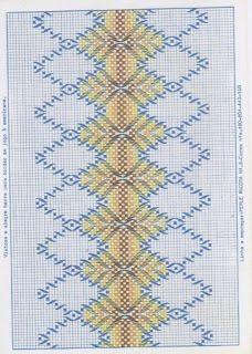 artesanato luso-brasileiro: PONTO JUGOSLAVO / VAGONITE