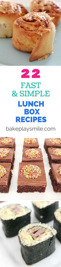22 Fast & Simple Lunch Box Recipes