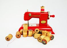 Vintage Sewing Machine Childs Sewing by BlueMoonCollectibles, $38.00