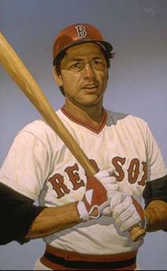 Carlton Fisk of the Boston Red Sox by Arthur K. Miller.