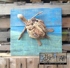 driftwood craft   Driftwood Art > Love it mounted on the painted board