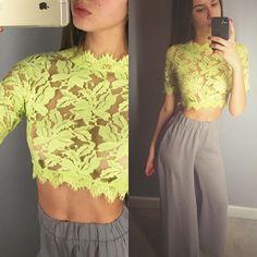 Pandapang Womens Lapel Neck Mesh Classic Button Backless Crop Top Blouse T-Shirts