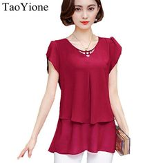 2018 New Blouse Shirt Summer Style Women Blouses Multi Colors Casual Tops O-Neck Short Sleeve Chiffon Shirt Blusas Femininas Blouses & Shirts TaoYione #fashion#style#stylish#shopping#brand#accessories#Blouses#fashion#Deals#Womens#Tops