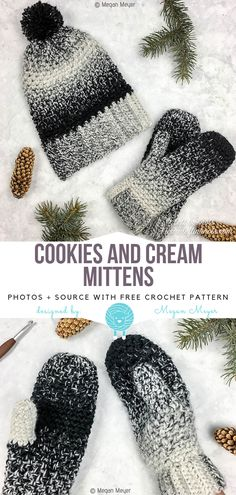 0e2e16e76019b Cookies and Cream Mittens Free Crochet Pattern