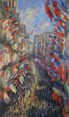 The Rue Montorgueil, Paris 1878 by Claude Monet