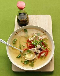 chinese chicken and chile soup   martha stewart