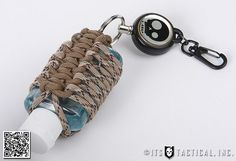 """Join ITS Tactical's Knot of the Week as we demonstrate paracord wrapping a """"germ grenade"""" or bottle of hand sanitizer. For a detailed write-up and photo instructions please visit ITS Tactical: itstac. Paracord Braids, Paracord Knots, Paracord Bracelets, Survival Bracelets, Paracord Tutorial, Paracord Projects, Paracord Ideas, Hand Sanitizer Holder, Parachute Cord"""