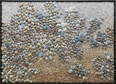 "Dianne Rella's ""FLOURISH"" pebble stone mosaic art Pebble Mosaic, Stone Mosaic, Mosaic Art, Flat Stone, Pebble Stone, Cape Cod, Flourish, Gallery, Artwork"