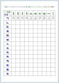 Korean Hangul Printable Writing Worksheets -this site also ...