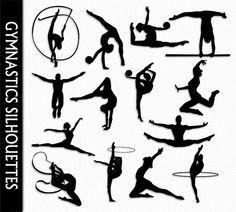 Gymnastics Clip Art Graphic Rhythmic Gymnastics by CarmenClipArt