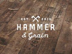 Hammer & Grain logo  / pinned on Toby Designs