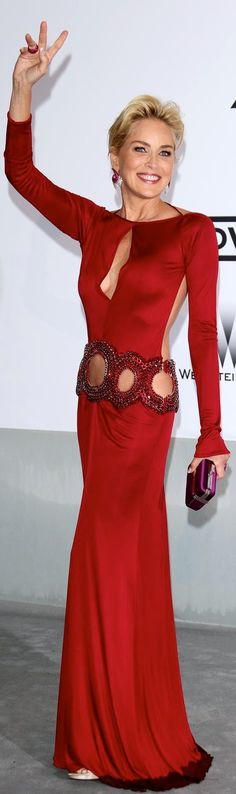Sharon Stone in Roberto Cavalli- #LadyLuxuryDesigns