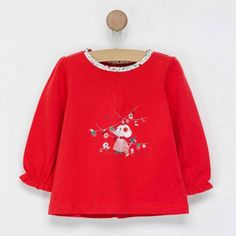 Tee shirt manches longues fille rouge Sergent Major Nadouce   Sergent Major 8329b44ffd9