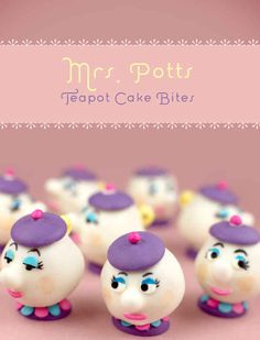 If you have a huge supply of patience, try making these beautiful Mrs. Potts cake bites.