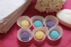 The cutest DIY ever: Sugar Scrub Bon-Bons! So easy to make and super pretty to look at.