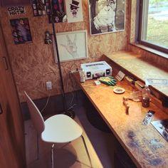 椅子/手作り/CH FURNITURE /自作/DIY/OSB合板…などのインテリア実例 - 2015-08-29 14:48:55 | RoomClip(ルームクリップ) My Room, Dorm Room, He Shed She Shed, Garage Workbench Plans, Garage Remodel, House Rooms, Workshop, Workspaces, Plywood