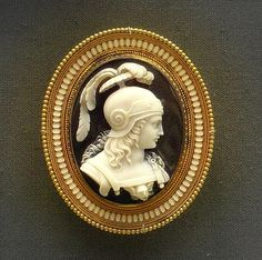 Onyx cameo brooch, ca. 1860, British Museum