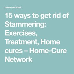 Remedies for stammering