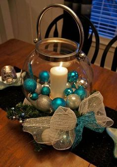 25 Stunning Christmas Centerpiece Ideas | Christmas Celebrations See more at http://blog.blackboxs.ru/category/christmas/