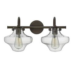 """View the Hinkley Lighting 50021 2 Light 20"""" Width Bathroom Vanity Light with Clear Schoolhouse Shade from the Congress Collection at Build.com."""