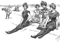 "gibson girl. - usually has the commentary of ""The scenary - Anywhere on the coast"". Gibson was a very witty man."