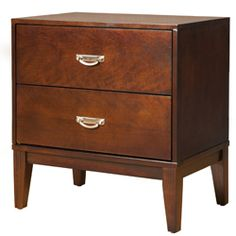 $129 Furniture of America Ridge Brown Cherry 2-Drawer Nightstand