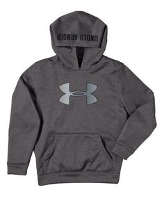 Look at this Carbon Heather Armour® Fleece Storm Big Logo Hoodie - Boys on #zulily today!