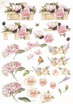 3d Cards, Pop Up Cards, Decoupage Printables, Image 3d, 3d Paper Crafts, Picture Postcards, Decoupage Paper, Card Patterns, Planner